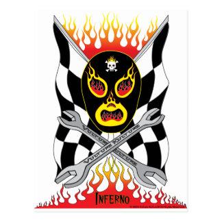 Inferno Luchador Mexican Wrestler Postcard