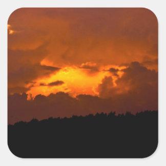 Inferno Sunset Square Sticker