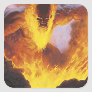 Inferno Titan Square Sticker