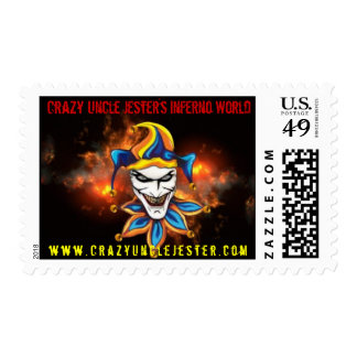 Inferno World USPS Stamps de tío Jester's loco Sellos Postales