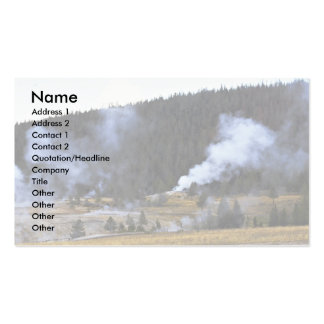 Inferno, Yellowstone National Park, California Business Card Template