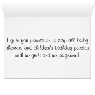 Infertility and Baby Showers Card