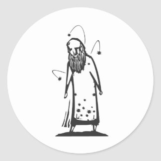 Infested Man Round Sticker