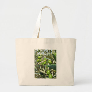 Infested olive tree by olive fruit fly large tote bag