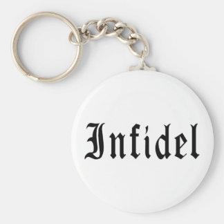 Infidel 1 basic round button keychain
