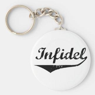 Infidel 2 basic round button keychain