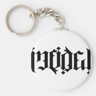 Infidel Ambigram Basic Round Button Keychain