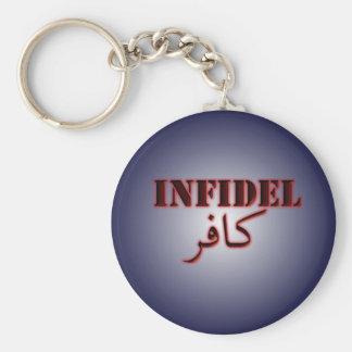 Infidel Basic Round Button Keychain