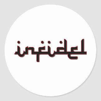 infidel classic round sticker