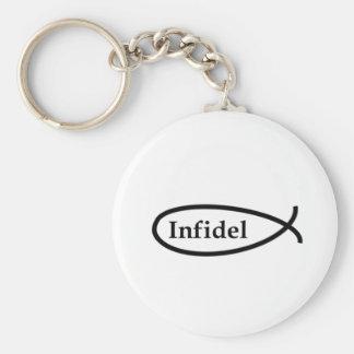 Infidel Fish Basic Round Button Keychain