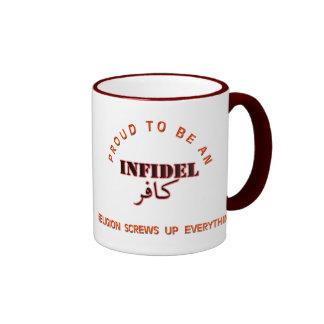 Infidel pride coffee mugs