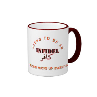 Infidel pride ringer coffee mug