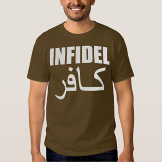infidel with back tee shirt