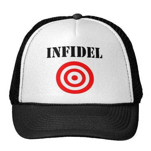Infidel (with target) trucker hat