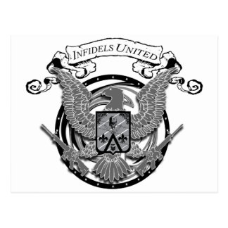 Infidels United Seal Postcard
