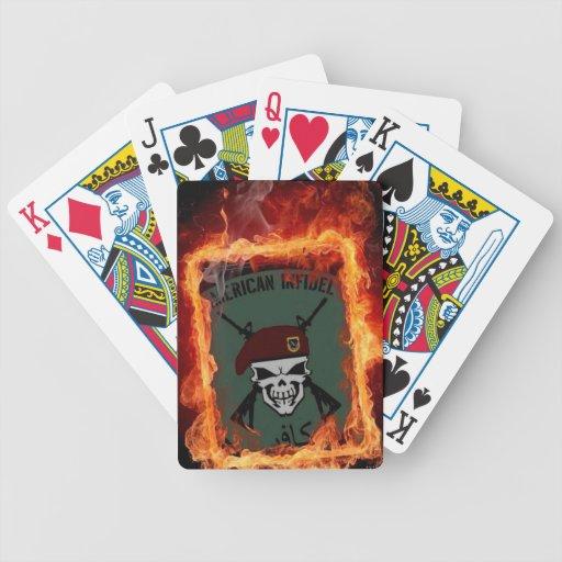 Infiel aerotransportado barajas de cartas