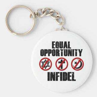 Infiel de la igualdad de oportunidades llavero personalizado