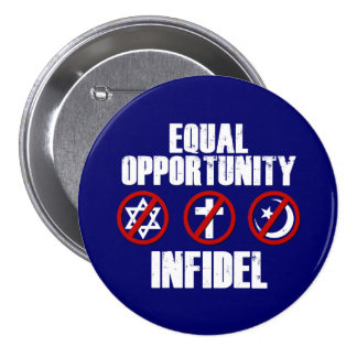 Infiel de la igualdad de oportunidades pin redondo de 3 pulgadas