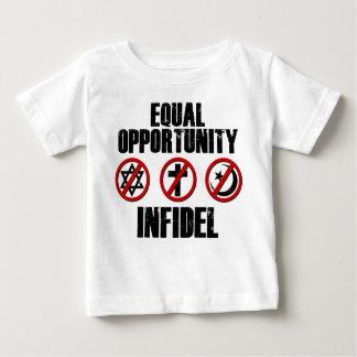 Infiel de la igualdad de oportunidades playera de bebé