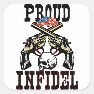 ¡Infiel orgulloso! Pegatina Cuadrada