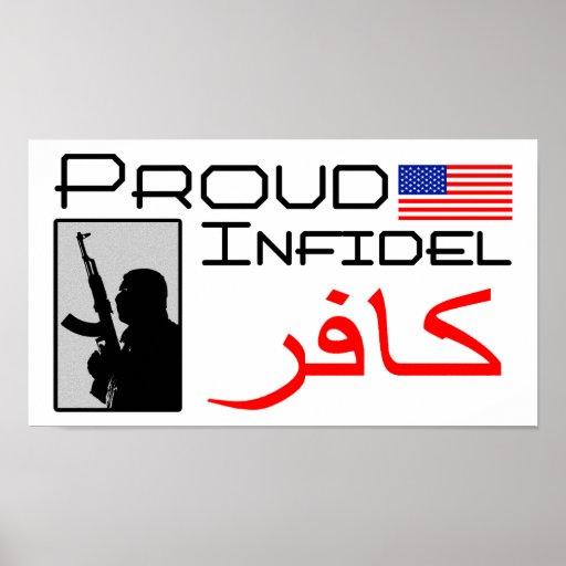 Infiel orgulloso poster