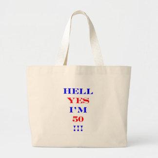 Infierno 50 sí bolsa de tela grande