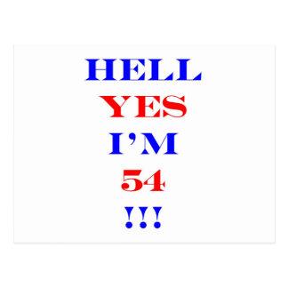 ¡Infierno 54 sí! Tarjetas Postales