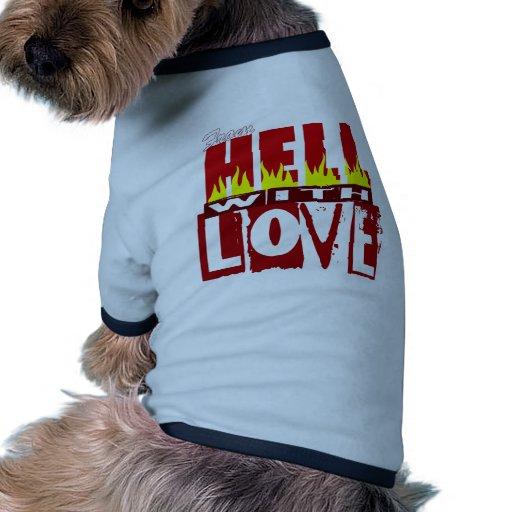 Infierno Camiseta Con Mangas Para Perro