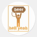¡infierno de la cerveza sí! etiquetas