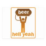 ¡infierno de la cerveza sí! tarjeta postal