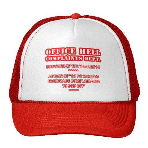 Infierno de la oficina - premio del empleado (1) gorro de camionero
