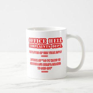 Infierno de la oficina - premio del empleado (1) taza