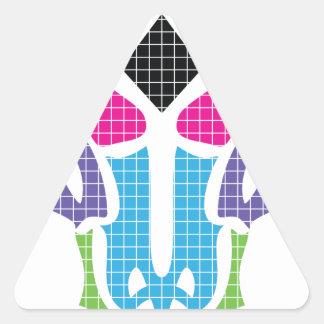 Infierno del animal del diablo de Wellcoda Raging Pegatina Triangular