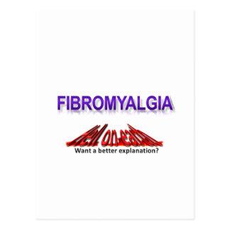Infierno del Fibromyalgia en desgaste de la tierra Tarjeta Postal