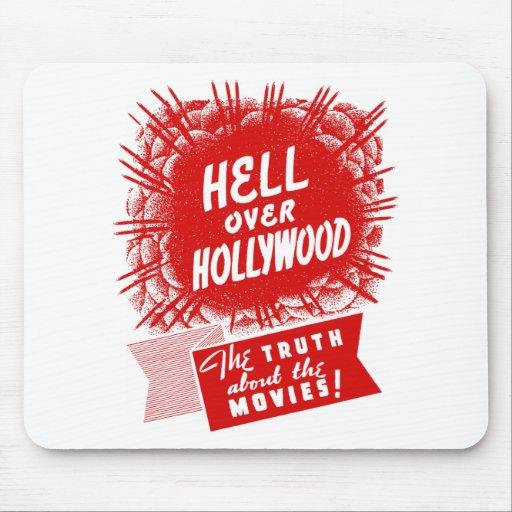 Infierno del vintage del kitsch sobre Hollywood Alfombrilla De Raton
