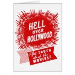 Infierno del vintage del kitsch sobre Hollywood Tarjeton