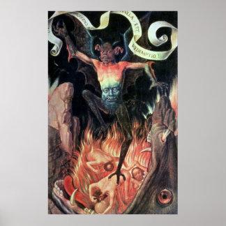 Infierno, el panel derecho del tríptico de terrest póster