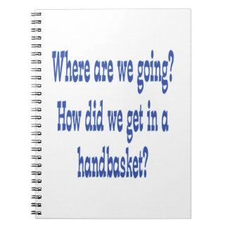 Infierno en un Handbasket Cuadernos