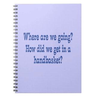 Infierno en un Handbasket - personalizado Libreta