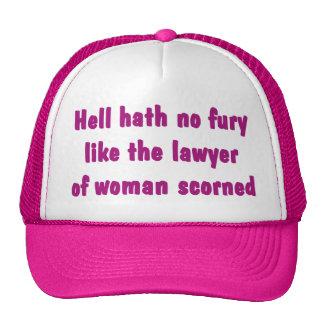 Infierno Hath ningún gorra del abogado de la furia