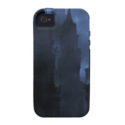 Infierno oscuro del reino de la fantasía abstracta iPhone 4 carcasa