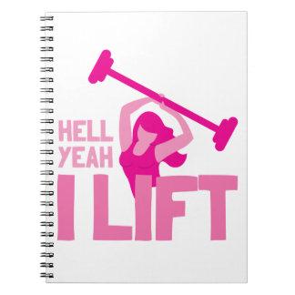 Infierno que levanto sí en rosa note book