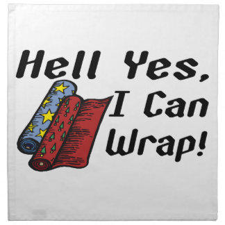Infierno que puedo envolver sí servilleta imprimida