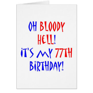 Infierno sangriento 77 tarjeta de felicitación