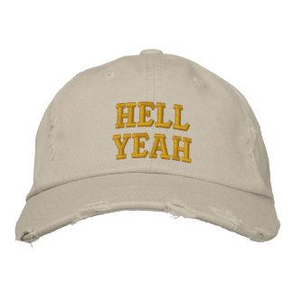 Infierno sí gorra de beisbol bordada