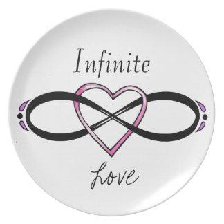 Infinate Love design Dinner Plate
