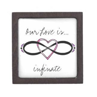 Infinate Love design Jewelry Box