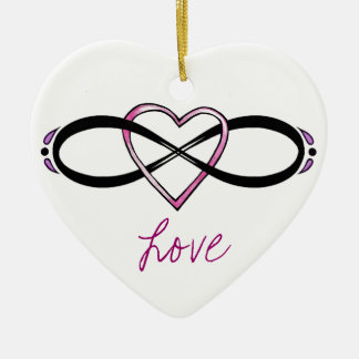Infinate Love design Christmas Tree Ornaments