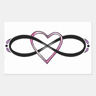 Infinate Love design Rectangular Sticker