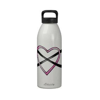 Infinate Love design Reusable Water Bottles